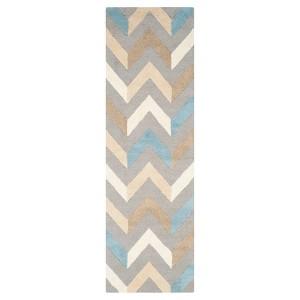 Safavieh Brindley Textured Runner - Grey/Ivory (2