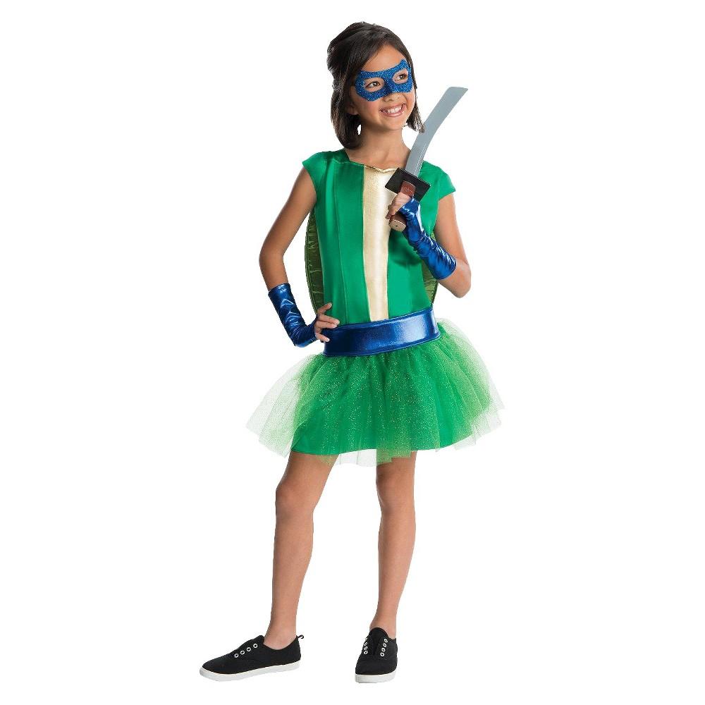 Teenage Mutant Ninja Turtles Kids Leonardo Tutu Costume Medium (8-10), Girls, Size: M(8-10), Variation Parent