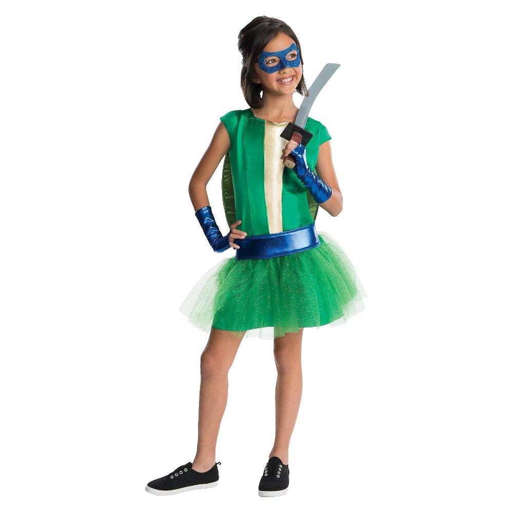 Teenage Mutant Ninja Turtles Girls Leonardo Tutu Costume Large (12-14), Size: L (12-14), Variation Parent