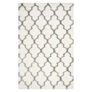 Safavieh Leila Printed Shag Area Rug - White/Silver (5