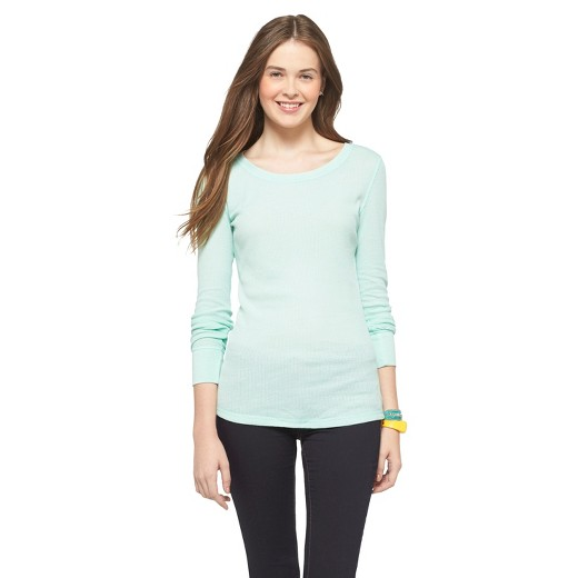 Women's Long Sleeve Thermal T-Shirt - Mossimo Supply Co.™ (Juniors ...