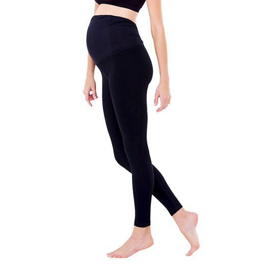 BeMaternity® by Ingrid & Isabel® Yoga Black Leggings with ...