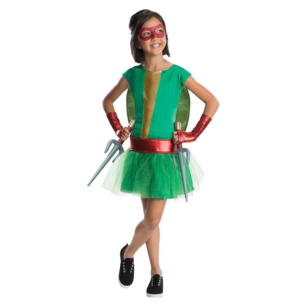 Teenage Mutant Ninja Turtles Girls Raphael Tutu Costume Small (4-6), Size: S(4-6), Green