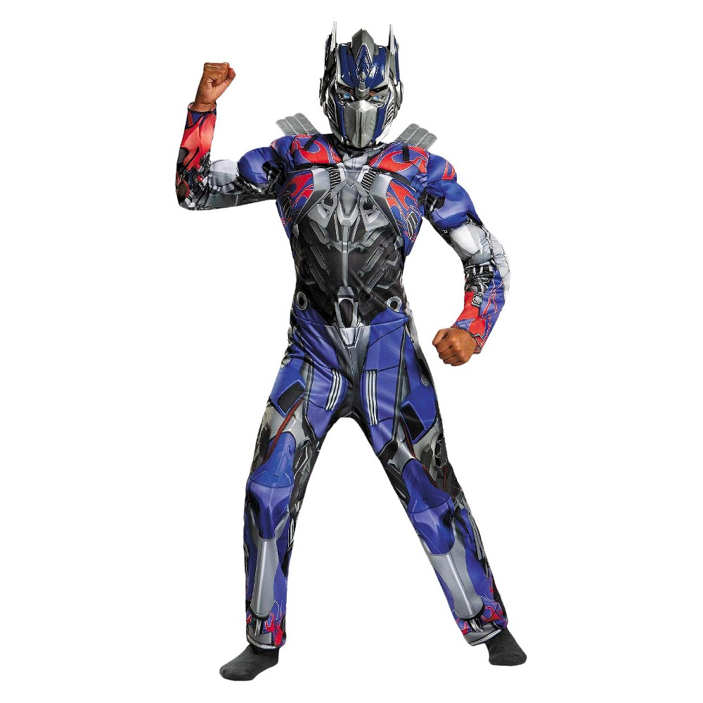 Transformers 4 Age of Extinction Boys' Optimus Prime Muscle Costume Medium (7-8), Size: M(7-8)