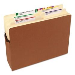 "Smead® 3 1/2"" Accordion Expansion Pocket, Straight Tab, Letter- Manila/Redrope (25 per Box)"