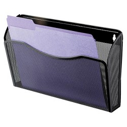 Rolodex Single Pocket Wire Mesh Wall File, Letter- Black