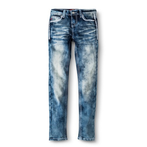 Girls' Skinny Jean - 16 Bleach Fade, Girl's, Variation Parent