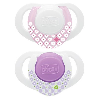 Chicco NaturalFit 2pk 0-6M Deco Orthodontic Pacifier - Pink