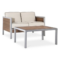 Bryant 2Pc. Faux Wood Loveseat