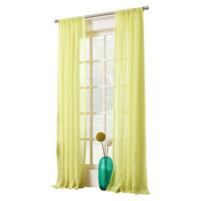 no. 918 avril crushed sheer rod pocket curtain panel : target
