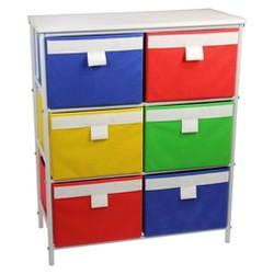 Household Essentials® 3-Shelf White Storage Unit with 6 Bins