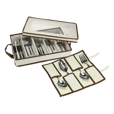Household Essentials® Flatware Chest with Serving Pouch