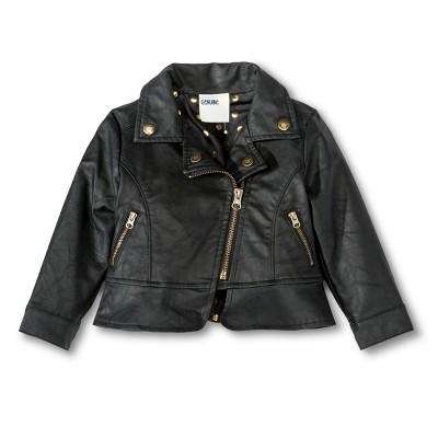 Infant Toddler Girls' Moto Jacket - Black 4T