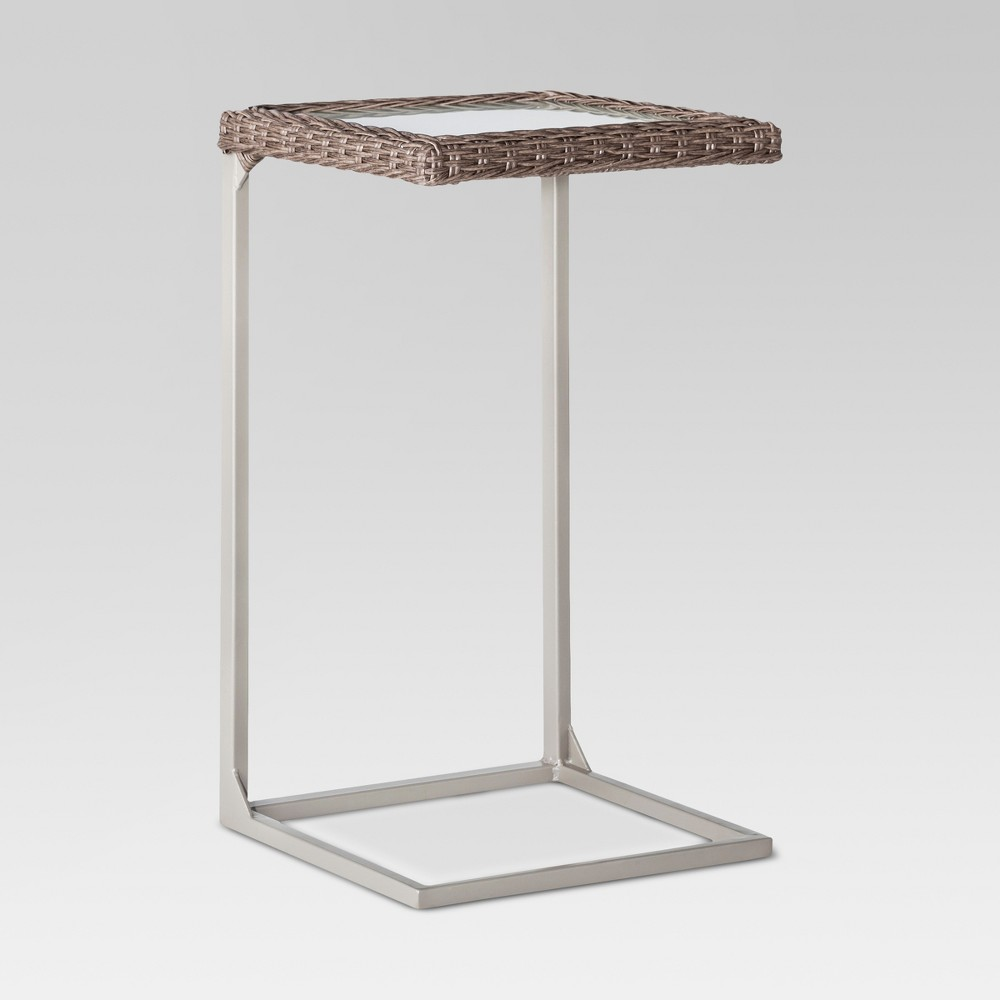 Upc 848681035337 product image for threshold heatherstone wicker patio c side table upcitemdb com