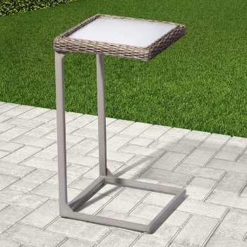 Threshold Heatherstone Wicker Patio C Side Table