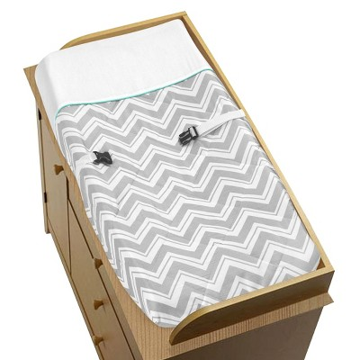 Sweet JoJo Designs Changing Pad Covers Gray & Turquoise Zig Zag
