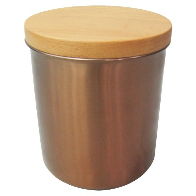 Stainless Steel Canister with Wood Lid & Copper Finish Team Color - Threshold™