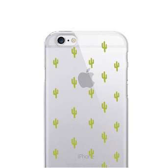 iPhone 7/6s/6 OTM Prints Clear Phone Case Mini Cacti Green - OTM Essentials®