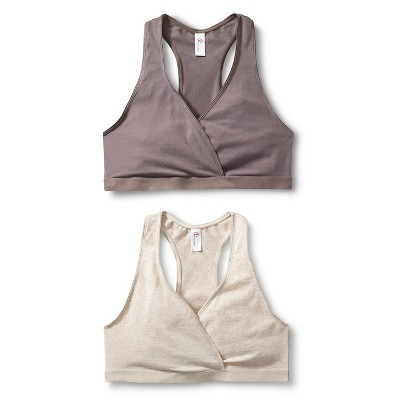 Women's Nursing Sleep Bra Mauve Gray/Oatmeal XL 2pk - Gilligan & O'Malley™
