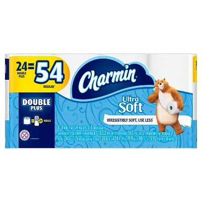 Charmin Ultra Soft Toilet Paper - 24 Double Plus Rolls