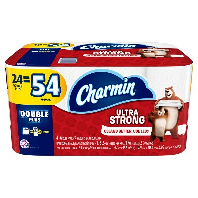 Charmin Ultra Strong Toilet Paper 24 Double Plus Rolls