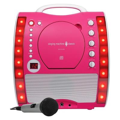 singing machine sml343p portable plug n play cdg karaoke system with microphone target. Black Bedroom Furniture Sets. Home Design Ideas