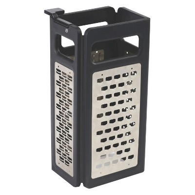 Joseph Joseph Fold Flat Grater™ Plus 4-in-1 Folding Box Grater - Black