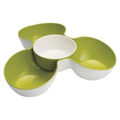 Joseph Joseph Triple Dish™ Multi-Bowl Serving Dish - White/Green