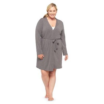 Plus-Size Fluid Knit Wrap Gray 2X - Gilligan & O'Malley™