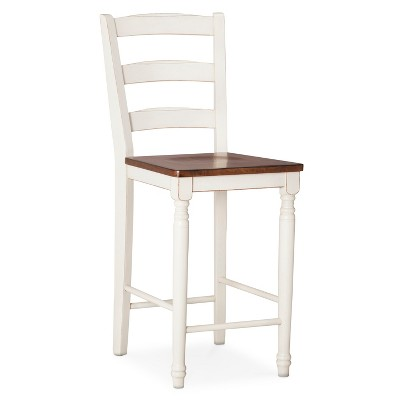 Mulberry Distressed Two Tone 24 Counter Stool Hardwood