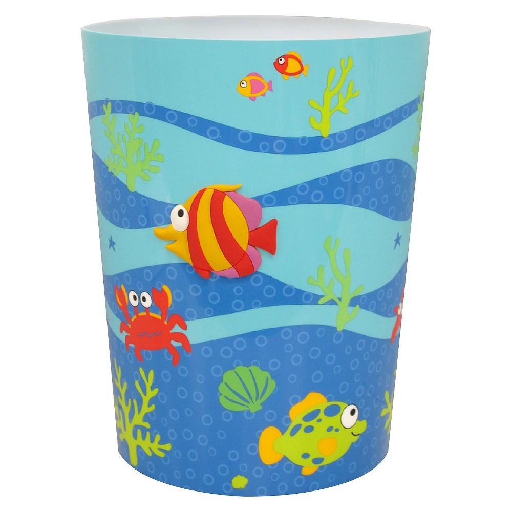 Fishtails Bathroom Wastebasket,  Multi-Colored