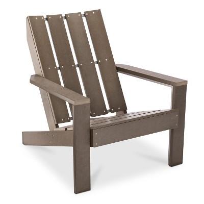 Bryant Faux Wood Patio Adirondack Chair - Gray - Threshold™