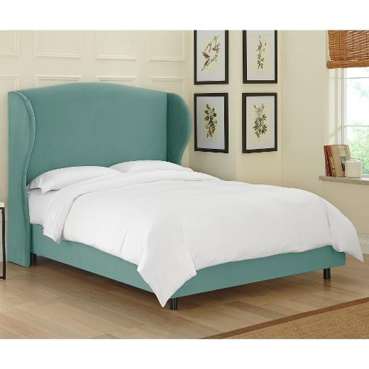 Bed Pictures tilton fenwick wingback bed velvet - skyline furniture : target