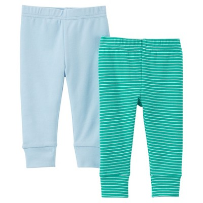 Just One You™ Made by Carter's® Baby Boys' 2pk Pant - Light Blue/Green 6M