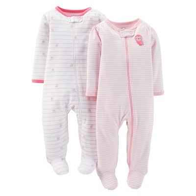 Just One You™ Made by Carter's® Baby Girls' 2pk Owl Sleep N' Play - 3M