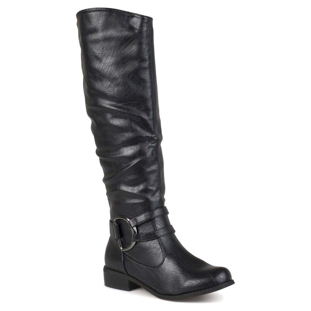 Womens Journee Collection Charming Knee-High Riding Boots - Black 6