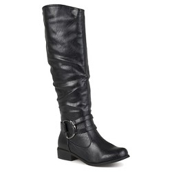 Women's Journee Collection Charming Knee-High Riding Boots - Black 6