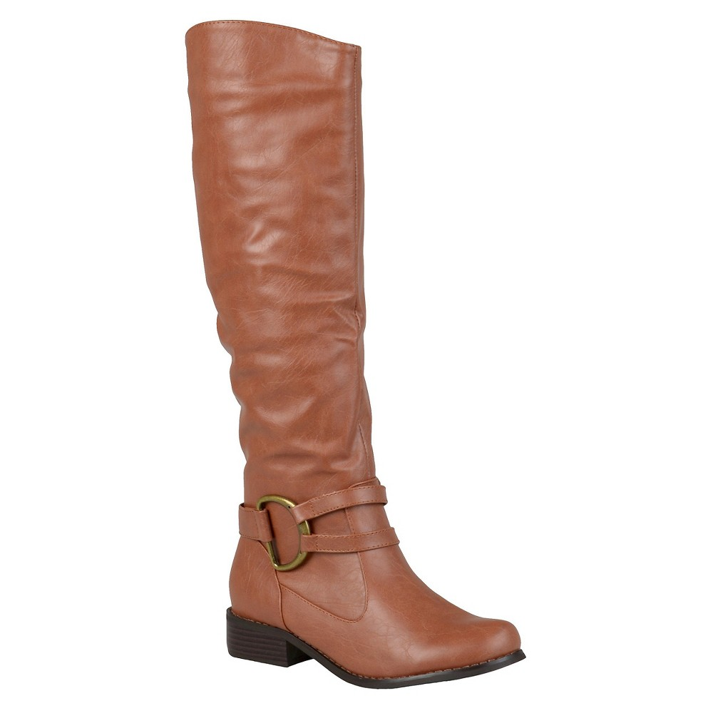 Womens Journee Collection Charming Knee-High Riding Boots - Brown 9