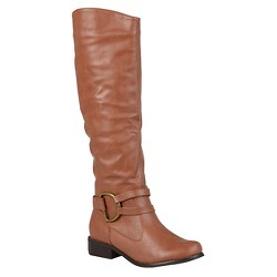 Women's Journee Collection Charming Knee-High Riding Boots - Brown 9