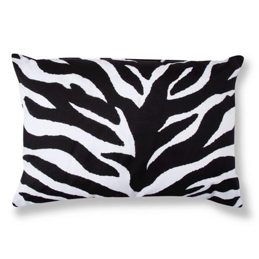 Black&White Zebra Print Oblong Throw Pillow (20