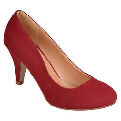 Women's Journee Collection Round Toe Pumps - Red 8.5