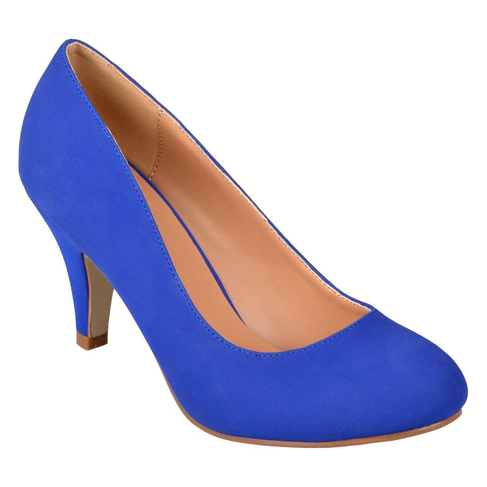 Womens Journee Collection Round Toe Pumps - Blue 7
