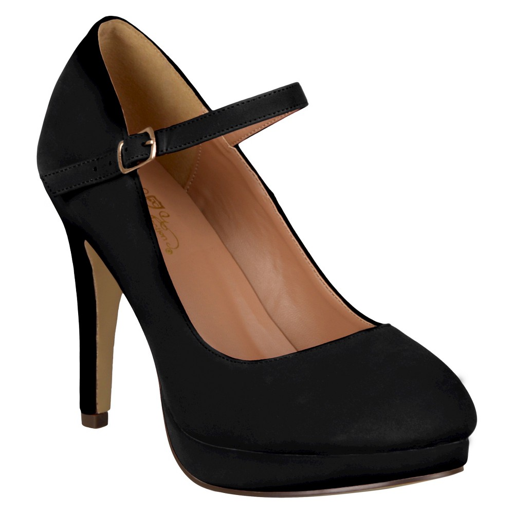 Womens Journee Collection Platform Mary Jane Pumps - Black 8