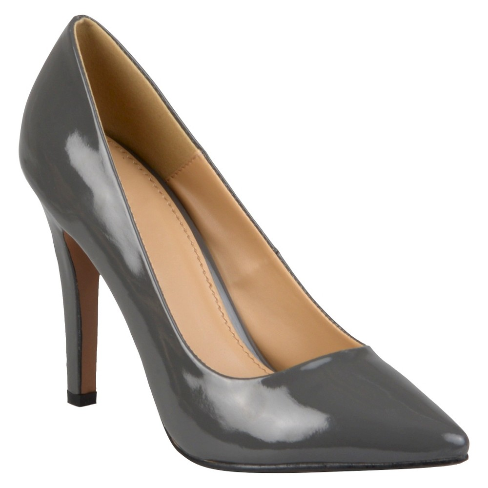Womens Journee Collection Pumps - Gray 8.5