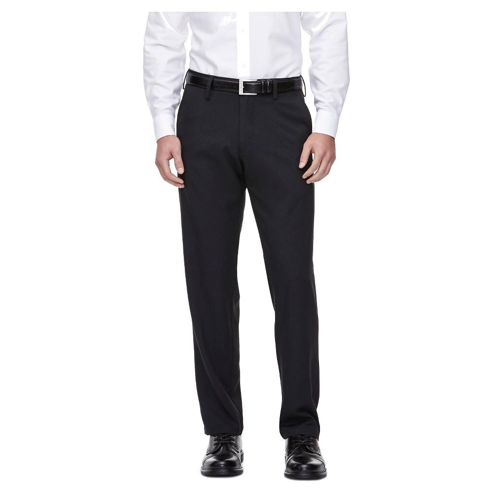 Haggar H26 Men's Performance 4 Way Stretch Classic Fit Trouser Pants - Black 36x29