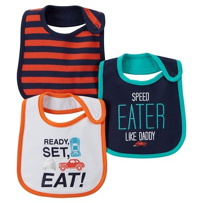 Just One You™ Made by Carter's® Baby Boys' 3pk Car Bib Set