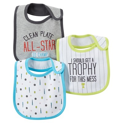 Just One You™ Made by Carter's® Baby Boys' 3pk Sports Bib Set