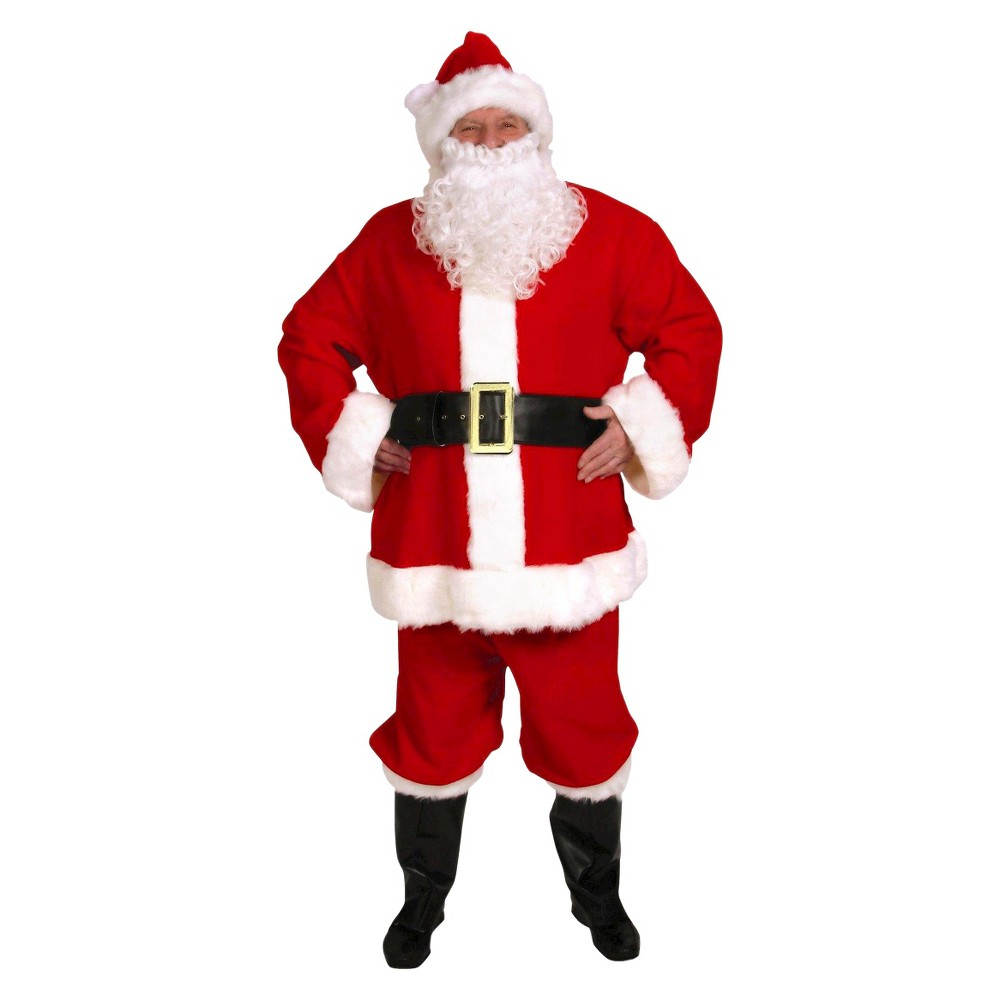 Mens Santa Claus Costume One Size Fits Most, White