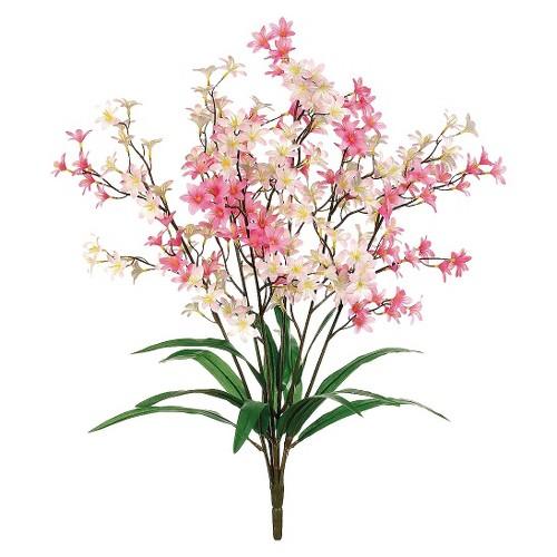 Allstate Floral Tweedia Flower Bush Set of 12 - Pink (24)
