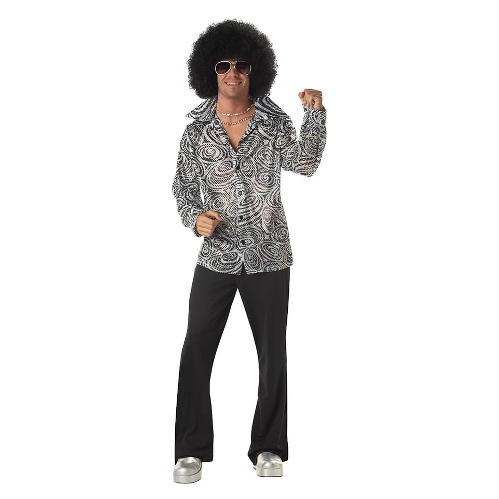 Men's 70's Disco Man Costume X-Large, Size: XL, Blue